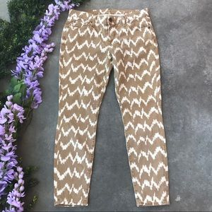 7 For All Mankind Chevron Cropped Skinny jeans 28